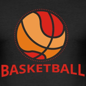 Basketball Retro Design T-Shirts - Männer Slim Fit T-Shirt