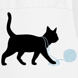 Cute Kitten Cat playing with wool funny animals   Aprons - Cooking Apron