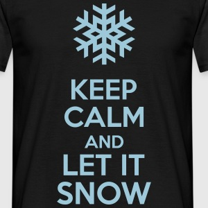 Keep Calm And Let It Snow T-shirts - Herre-T-shirt