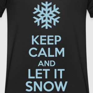 Keep Calm And Let It Snow T-shirts - Herre T-shirt med V-udskæring