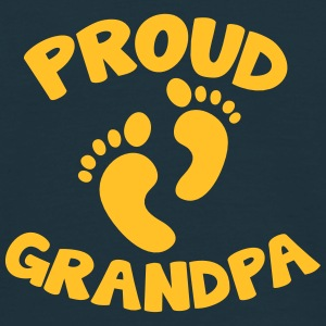 proud grandpa with cute newborn baby feet T-Shirts - Men's T-Shirt