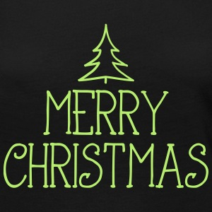 merry christmas with tree 1c Long Sleeve Shirts - Women's Premium Longsleeve Shirt