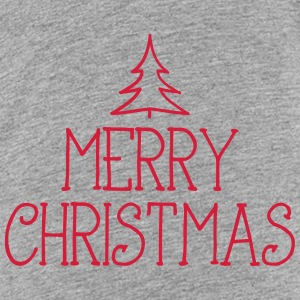 merry christmas with tree 1c Shirts - Teenager Premium T-shirt