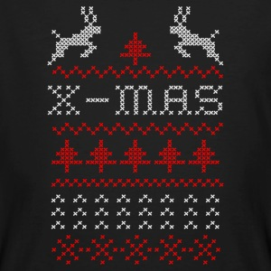 X-mas ugly sweater design for green T-shirts - Organic mænd