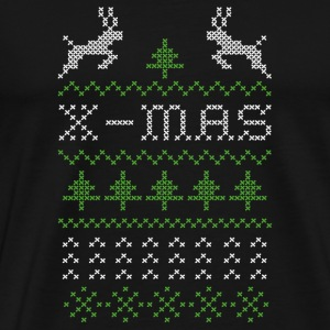 X-mas ugly sweater design for red T-shirts - Premium-T-shirt herr