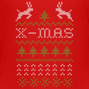 X-mas ugly sweater design for red Tee shirts - T-shirt Premium Ado