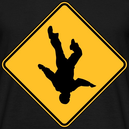 Road sign skydive
