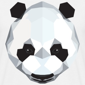 Panda Polygon Style T-Shirts - Men's T-Shirt
