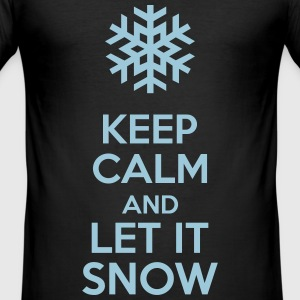 Keep Calm And Let It Snow T-shirts - Herre Slim Fit T-Shirt