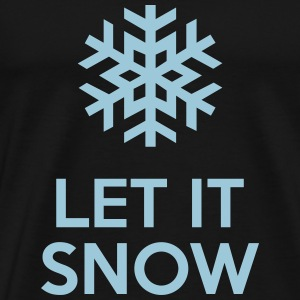 Let It Snow T-shirts - Herre premium T-shirt