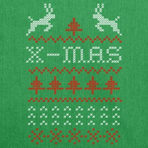 X-mas ugly sweater design for green Bags & Backpacks - Shoulder Bag made from recycled material