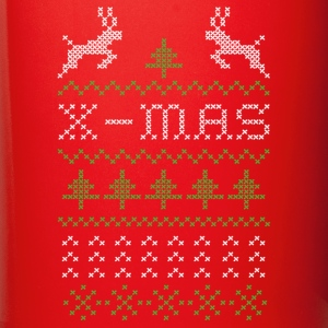 X-mas ugly sweater design for red Mugs & Drinkware - Full Colour Mug