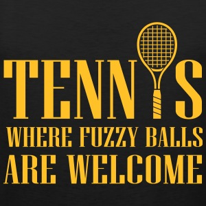 Tennis - where fuzzy balls are welcome Tank Tops - Men's Premium Tank Top