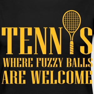 Tennis - where fuzzy balls are welcome Langarmshirts - Frauen Premium Langarmshirt