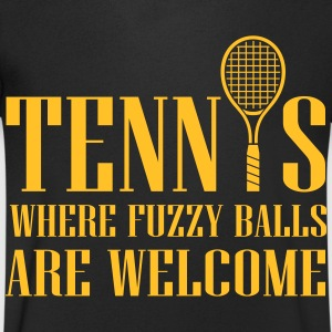 Tennis - where fuzzy balls are welcome T-Shirts - Men's V-Neck T-Shirt