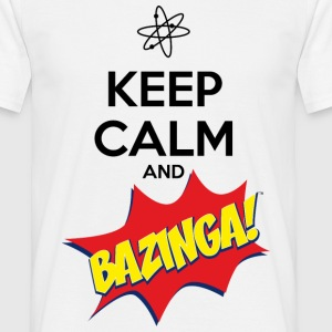 Herre T-shirt Keep Calm Bazinga - Herre-T-shirt