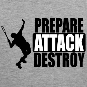 Tennis - Prepare, attack, destroy Tank Tops - Men's Premium Tank Top