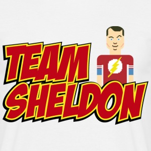 Herre T-shirt Team Sheldon Comic - Herre-T-shirt