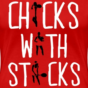 Tennis - chicks with sticks T-Shirts - Women's Premium T-Shirt