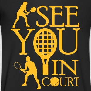 Tennis  - I see you in court T-Shirts - Men's V-Neck T-Shirt