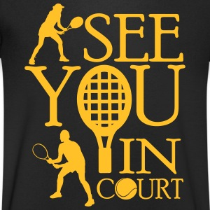 Tennis  - I see you in court T-shirts - Mannen T-shirt met V-hals