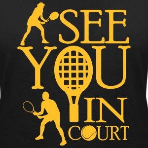 Tennis  - I see you in court T-skjorter - T-skjorte med V-utsnitt for kvinner