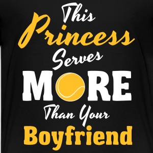 Tennis - This princess serves more Shirts - Teenage Premium T-Shirt