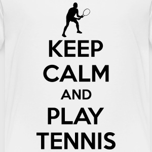 Keep calm and play Tennis Shirts - Kinderen Premium T-shirt