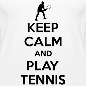 Keep calm and play Tennis Tops - Frauen Premium Tank Top