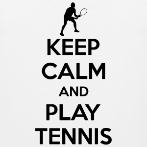 Keep calm and play Tennis Tanktoppar - Premiumtanktopp herr