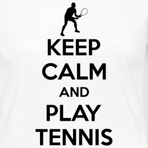 Keep calm and play Tennis Manga larga - Camiseta de manga larga premium mujer