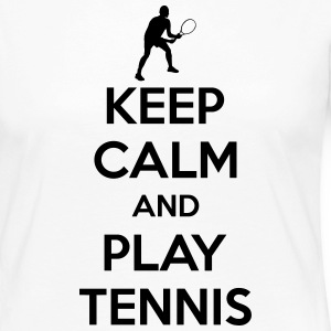 Keep calm and play Tennis Maglie a manica lunga - Maglietta Premium a manica lunga da donna