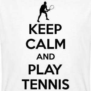 Keep calm and play Tennis T-shirts - Mannen Bio-T-shirt