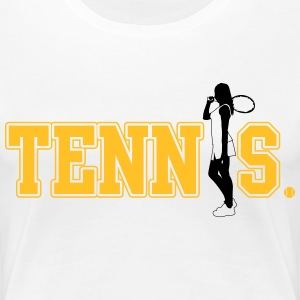 Tennis T-Shirts - Frauen Premium T-Shirt