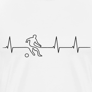 Soccer players heartbeat T-Shirts - Men's Premium T-Shirt