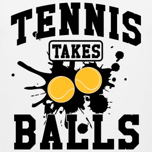 Tennis takes balls Tank Tops - Men's Premium Tank Top