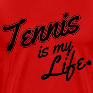Tennis is my life T-skjorter - Premium T-skjorte for menn