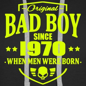 Bad Boy Since 1970 - Sweat-shirt à capuche Premium pour hommes