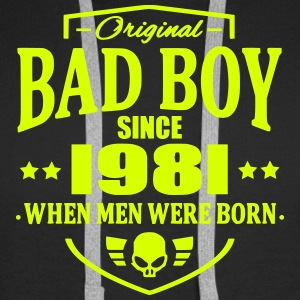 Bad Boy Since 1981 - Sweat-shirt à capuche Premium pour hommes