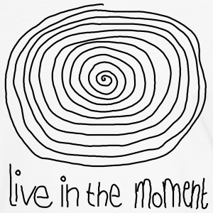 Live In The Moment T-Shirts - Männer Kontrast-T-Shirt