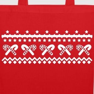 christmas candy canes Bags & Backpacks - Tote Bag