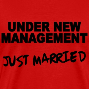 Under new Management - Just married T-shirts - Herre premium T-shirt