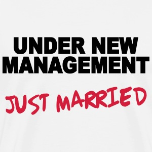 Under new Management - Just married T-skjorter - Premium T-skjorte for menn