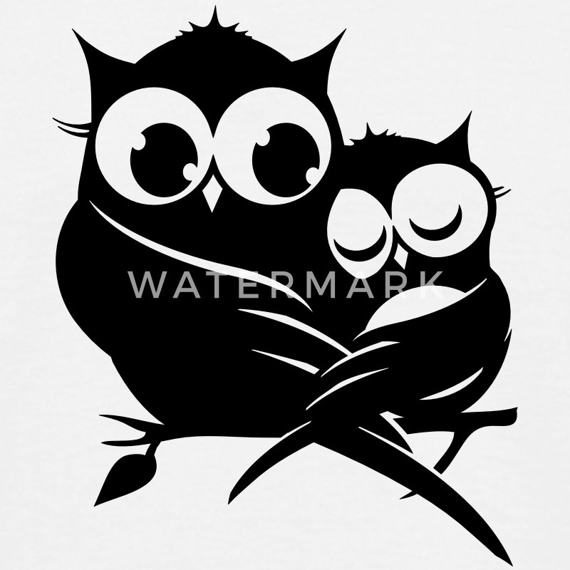 two owls on a branch T-Shirts - Men's T-Shirt