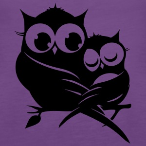 two owls on a branch Tops - Women's Premium Tank Top