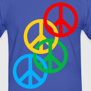 peace symbol x4 T-Shirts - Men's Ringer Shirt