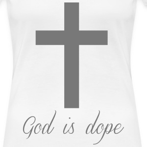 God is  T-shirts - Dame premium T-shirt