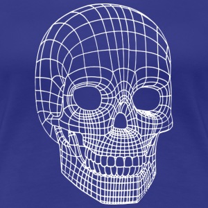 Digital Skull Wireframe Model Head T-Shirts - Women's Premium T-Shirt