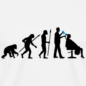 evolution_of_man_hairdresser_112014_b_2c T-Shirts - Männer Premium T-Shirt
