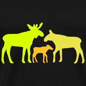 Moose family is Tee shirts - T-shirt Premium Homme